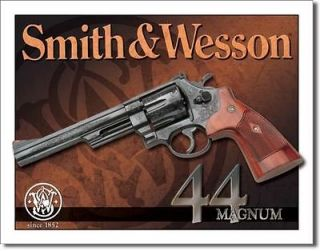 SMITH & WESSON 44 MAGNUM COLLECTOR TIN SIGN 16WIDE X 12 1/2 HIGH
