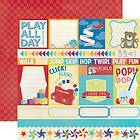 Toy Box Jump Journaling Cards 12x12 Scrapbook Paper Echo Park Paper 2