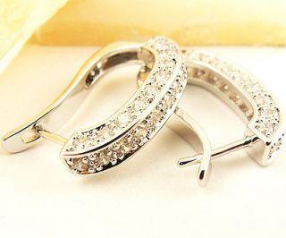 Ladys Swarovski Crystal 14KT gold filled Earrings Jewelry ME1311