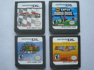Mario Kart and Super Mario Bros and Mario Party and Super Mario 64 for