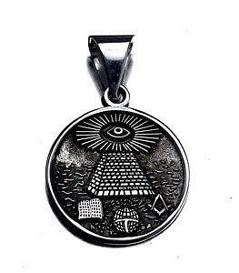 Free Mason Masonic Sterling Silver ALL SEEING EYE Charm