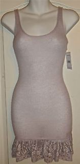 Wool Crochet Lily Purple Lace Tank Top Summer Dress Shirt XS $98