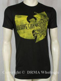 Authentic WU TANG CLAN Logo Ninja Slim Fit T Shirt S M L XL XXL RZA