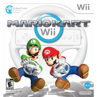 Mario Kart Wii super mario bros video game racing and Controller