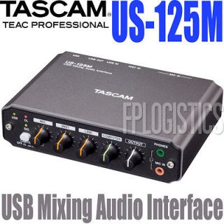 Tascam US 125M USB Mixing Audio Recording Interface USB125M US 125 M