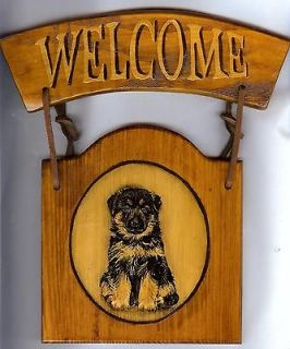 German Shepherd Puppy Welcome Sign Amy Scanlon Art