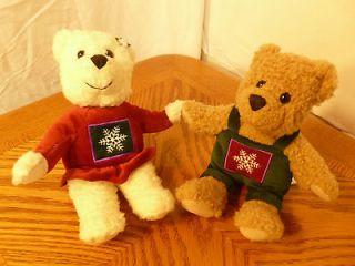 10 HALLMARK CHRISTMAS KISSING BEARS DECORATION/STUFFED PLUSH ANIMALS
