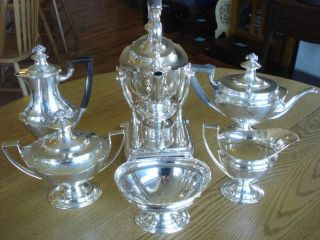 *TIFFANY*STERLING SILVER*6P*TEA*COFFEE SET*KETTLE+STAND*HEAVY 126 T.O