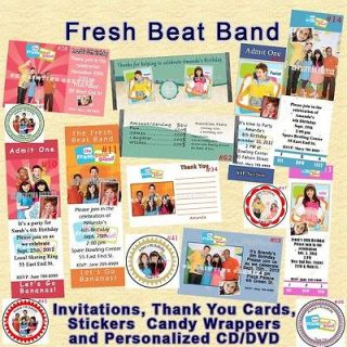Band Birthday Invitations Thank You Card Stickers Candy Wrappers more