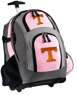 Tennessee Logo Rolling Backpack UT Vols Logo Bag with Wheels Ladies