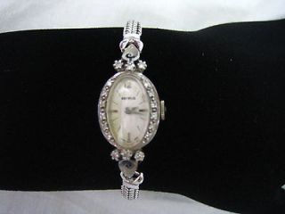 ladies diamond watch in Vintage & Antique Jewelry