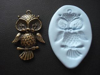 Big Owl Silicone Mould, Sugarcraft, Cake Topper, Fimo, Food Graded