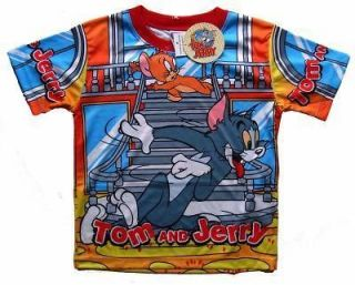 TOM & JERRY Cartoon Kids T Shirt Size 4 Age 2 3 Years Movies Hero TV