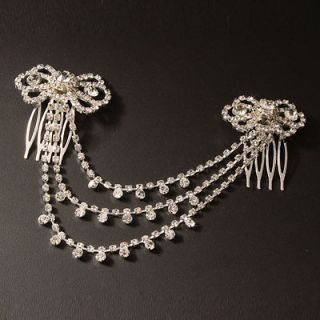 New Beautiful Wedding Bridal Butterfly Style Rhinestone Hair Comb Pin