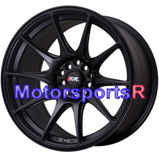 17 XXR 527 Flat Black Staggered Rims Wheels Concave Stance 5x114.3 93