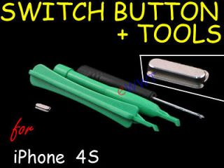 Power Switch Lock Top Key Button Repair Part Unit+Tool for iPhone 4 S