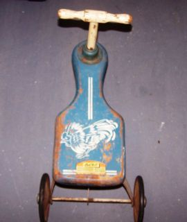 Oak Hill Kiddie Kar   Ride on Tricycle Car Walker Pre 1970 Attic Find