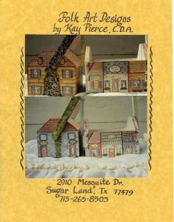 MAIN STREET by Kay Pierce CDA Decorative Painting Pattern Packet