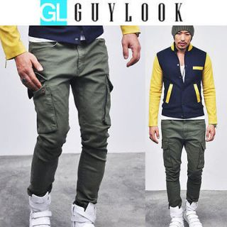Tough chic Military Mod Mens Spandex Skinny Baggy Urban Cargo Pants by