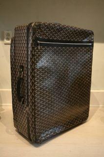 AUTHENTIC Goyard Travel Luggage Suitcase Black White Orange