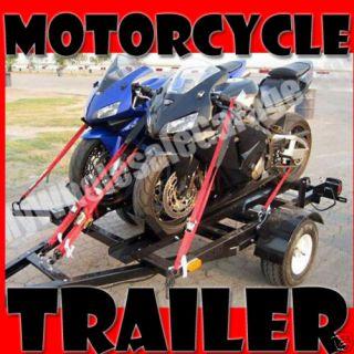 Folding Stand FOLD FOLDING Up Dual Bike 4x6 Motorcycle Trailer Kit