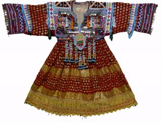 Vintage afghanistan ethnic traditional dress costume Nomaden afghan
