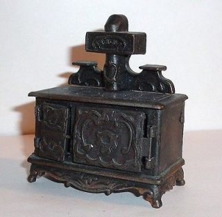 70s DURHAM MINIATURE Diecast Metal ~ WOOD BURNING STOVE Oven ~ RARE
