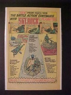 1983 OLD SGT ROCK TOY WAR ARMY MEN SOLDIER FIGURES PRINT AD~ ORIG