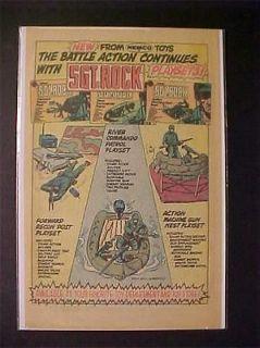 1983 OLD SGT ROCK TOY WAR ARMY MEN SOLDIER FIGURES PRINT AD~ ORIG