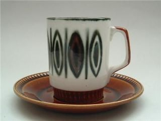 retro cup saucer time left $ 16 09 buy it now boch freres la louviere