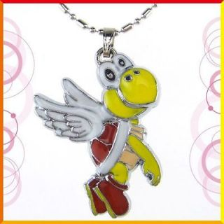 N312 Fashion Metal charm yellow flying turtle necklace