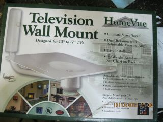 TELEVISION UNIVERSAL WALL MOUNT, HDTV, DIGITAL, ANALOG, DVD PLAYER