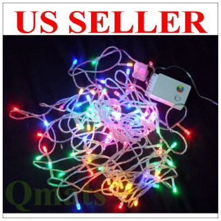 30FT  10M LED Multi color Christmas Wedding Light Wire String 8