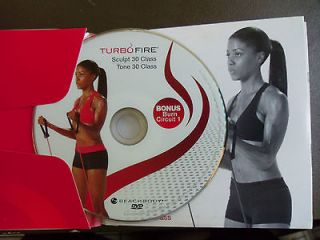 Chalene TURBOFIRE Scuplt 30 Tone 30 class DVD 1 disc only BONUS Burn