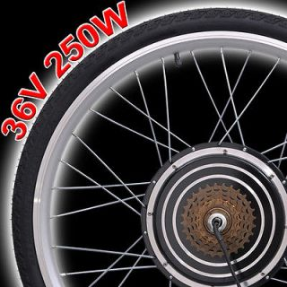 36V 250W 26 Rear Wheel Electric Bicycle Motor Kit E Bike Cycling Hub