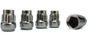 Bulge Acorn Lock Kit Lug Nuts Brand New Wheel Nuts w/ Key Set of 4