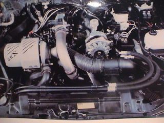 1987 BUICK GRAND NATIONAL GNX TURBO V6 ENGINE COMPARTMENT GLOSS PHOTO