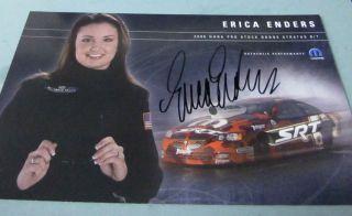 ERICA ENDERS Autographed SLAMMERS NHRA Hero Card