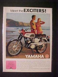 YAMAHA MOTORCYCLE JAPAN MOTOR BIKE PRINT AD~ORIGINAL VINTAGE RARE
