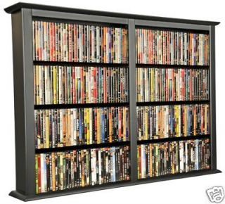 Black 684 CD/DVD Wall Mount Media Storage Rack/Shelf