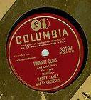 Columbia 78rpm HARRY JAMES Orchestra Trumpet Blues + Carnival of