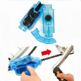 Bicycle 3D Chain Cleaner + 6 Brushes Quick Clean Wash Kit Tool