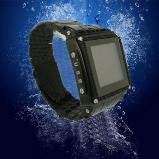 Unlocked Waterproof Watch Cell Phone Mobile SPY Camera W818 Bluetooth