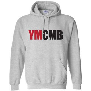 YMCMB HOODIE YOUNG MONEY LIL WEEZY WAYNE SHIRT GRAY MD