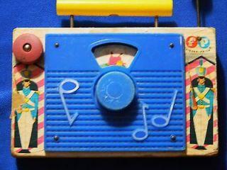 Vintage 1964 Fisher Price Jack & Jill radio toy Made in Switzerland