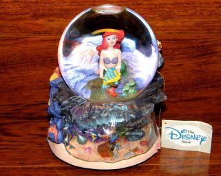 Disneys Stores 1997 The Little Mermaid Music Box & SnowGlobe Under