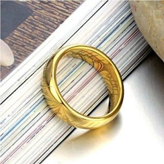 Mens 18K Yellow Gold Plated Band Wedding Ring Width 4mm Size 10.5/T