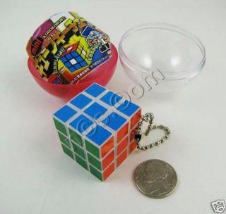 KoroKoro Hakusei Mini Rubiks Cube Keychain White Border