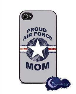 Proud Air Force Mom   Military iPhone 4/4s Slim Case Cell Phone Cover