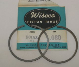 SKI DOO ROTAX 250 SINGLE CYLINDER WISECO PISTON RINGS .80 OVERSIZED